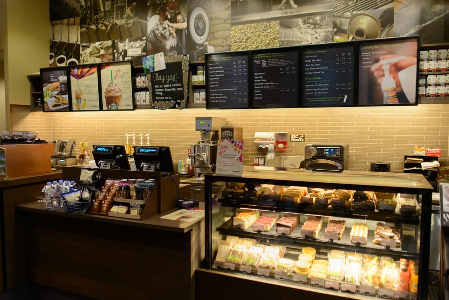 KUALA LUMPUR, MALAYSIA-MAY 06: Starbucks Cafe interior on May 06